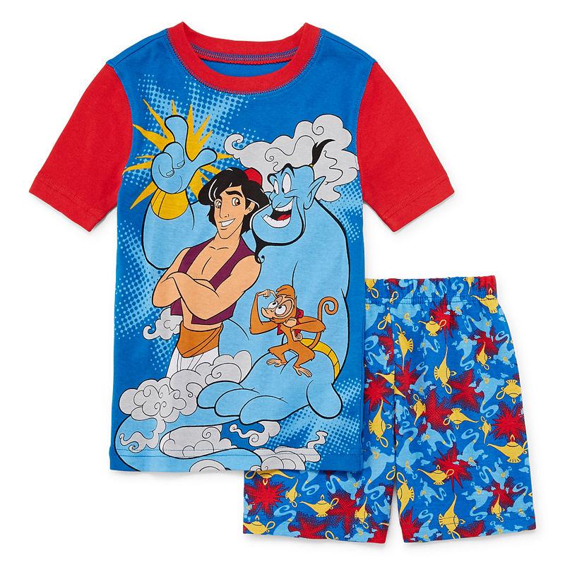 Boys Girls Kids Official Disney Aladdin Genie Abu Fleece Long Sleeve Pyjamas