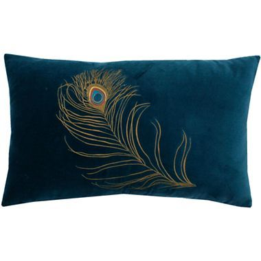 Peacock Feather Oblong Decorative Pillow Jcpenney