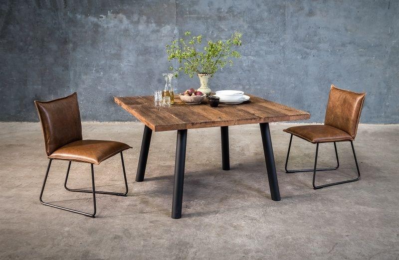 Massief houten vierkanten tafel op maat furniture