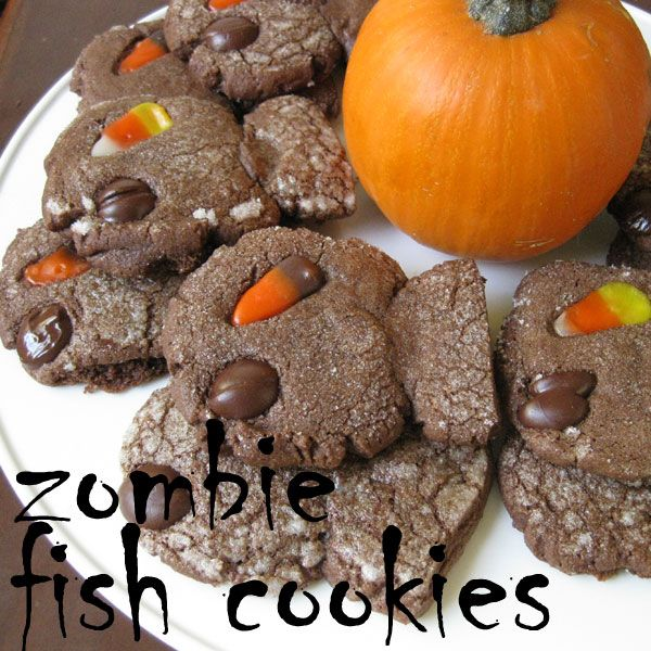 CATober Halloween Recipes: Zombie Fish Cookies  Spooktacular chocolate cookies