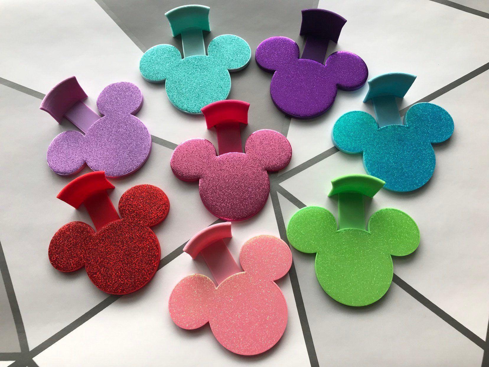 Glitter Mouse Head Hooks, Mouse Ears Display