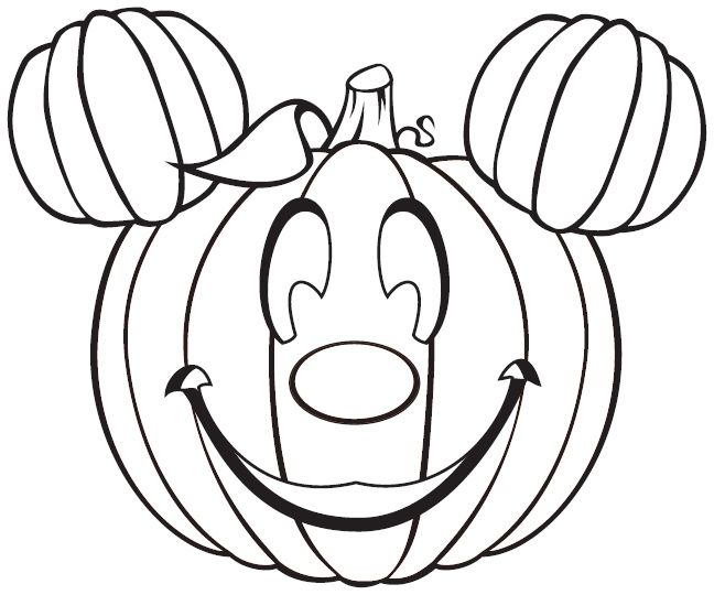 Free Disney Halloween Coloring Pages Lovebugs And Postcards Pumpkin Coloring Pages Disney Coloring Pages Disney Halloween Coloring Pages