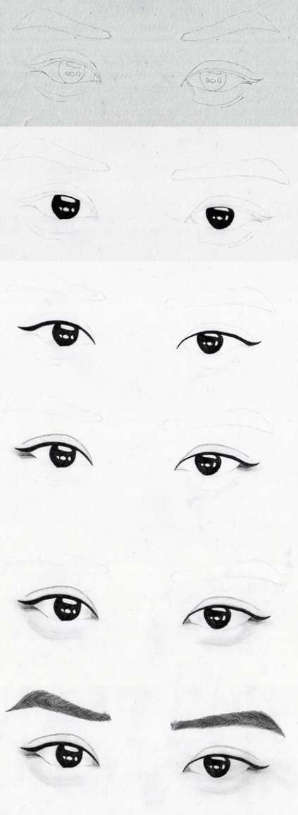 58 Ideas Eye Sketch Korean Eye Sketch Eye Drawing Exo Drawing