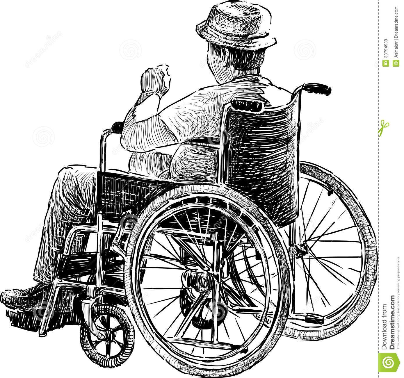 Person In Wheelchair Person Drawing Drawings Wheelchair