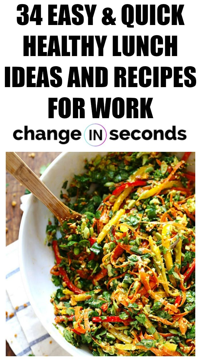 34 Easy & Quick Healthy Lunch Ideas And Recipes For Work images