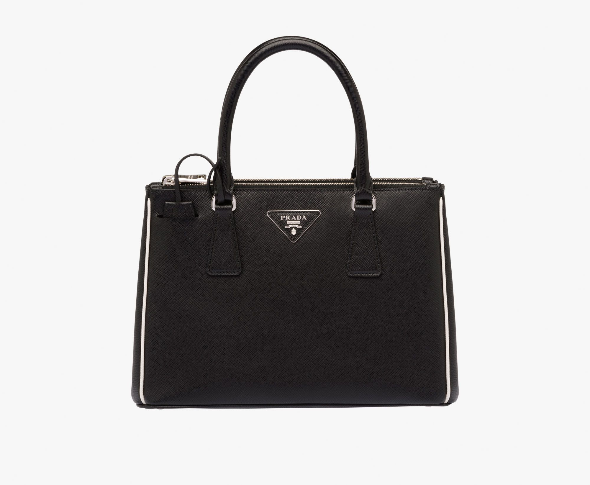 ... leather saffiano 2c910 f4d92  low price prada galleria bag with  contrast piping fd5c8 44237 d56abb31197f8
