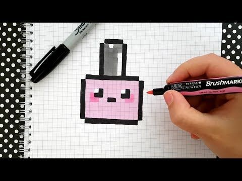 Videotuto Tuto Pixel Art Dessiner Du Vernis A Ongles Kawaii Dessiner Kawaii Ongles Pixel Vernis Https Pixel Art Facile Pixel Art Coloriage Pixel Art