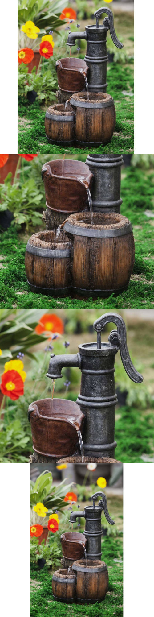 Outdoor Fountains 20507: Fountain Water Pump Garden Decor Outdoor ...