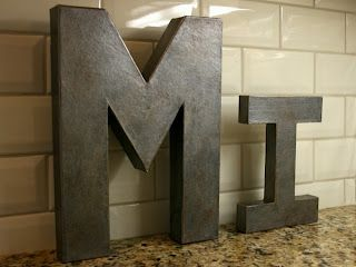 DIY - Architectural Letters, so easy, so cheap. Love It. I will try it. Great page, lots of ideas.