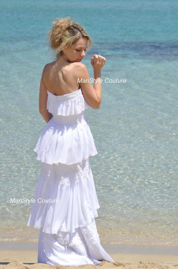 Robe de mariée robe de plage de robe de mariée par MariStyleCouture, $850.00
