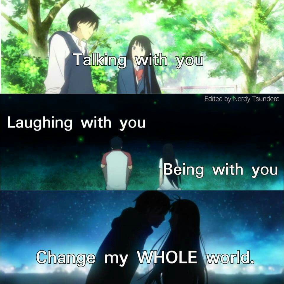 Anime Quotes About Friendship Because L Love You L Really Do Smookie Xo  Anime  Pinterest