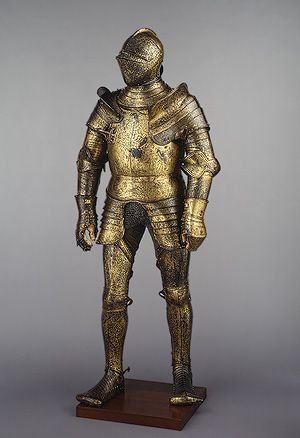 Armor for Field and Tournament, 1527  Made in the Royal Workshops  English (Greenwich)  Steel, etched and gilded overall