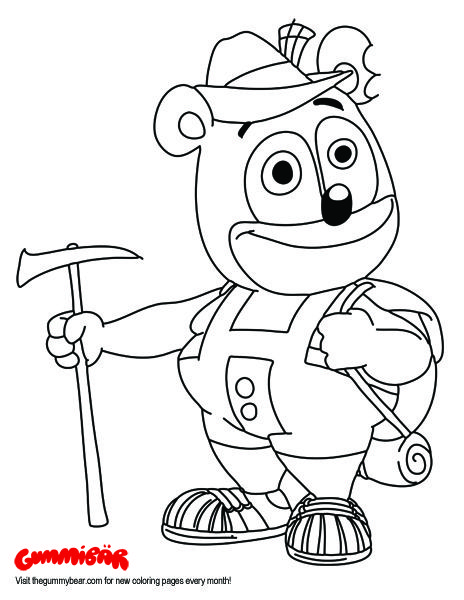 Download a Printable Gummibär August 2016 Coloring Page