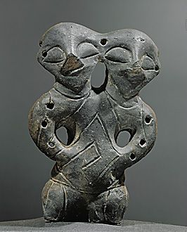 Ancient two-headed God sculpture found near Novi Sad in Serbia many pll interpret it as having to do with duality of opposing forces a theme often found in Slavic Myth  folklore.