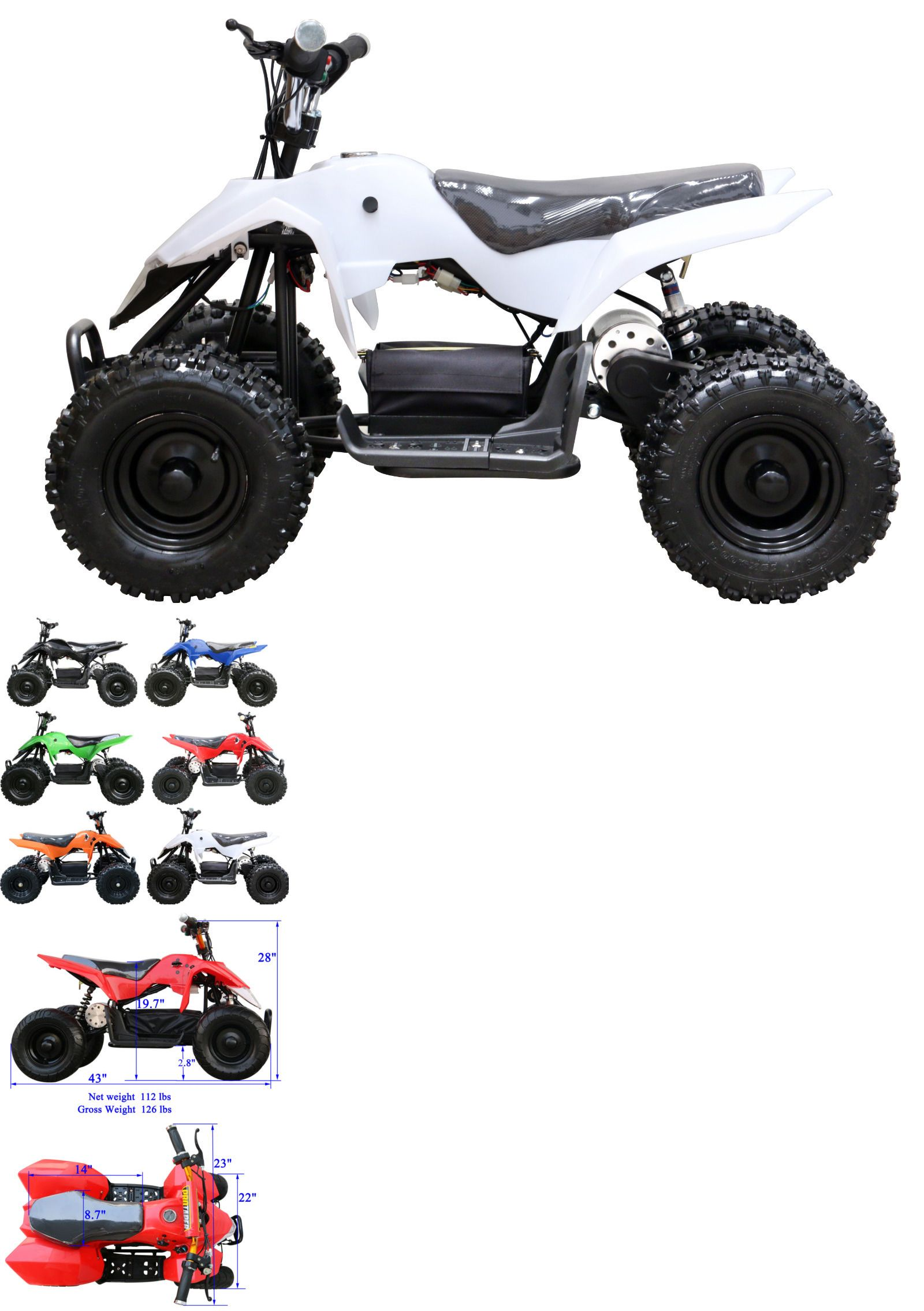Complete Go Karts And Frames 64656 500 Watts Electric Atv Mini