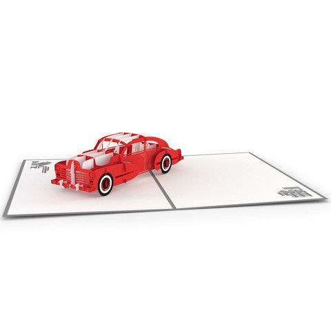 LovePop 3D Greeting Card - Robert's Sports Car