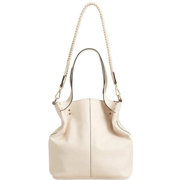 Pebbled Bucket Bag 54 Liked On Polyvore Featuring Bags Handbags Ecru