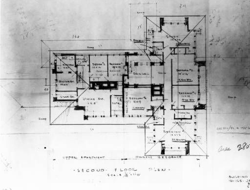 Martin House Second Floor Plan Darwin D Martin Photograph Collection Digital Collections University At Buffalo Libraries