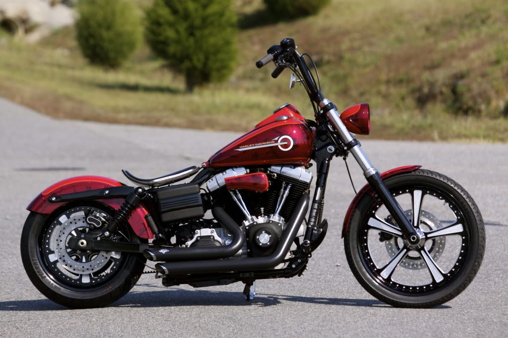 Custom Harley Davidson Dyna Fxdl Build: Dyna With Shorties And Nice Wheels