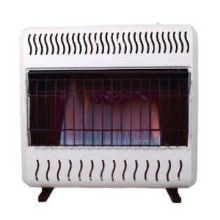 Sure Heat Sure Heat 30 000 Btu Blue Flame Dual Fuel Gas Space Heater With Thermostat And Blower Appliances Heating Ind Blue Flames Fuel Gas Patio Heater