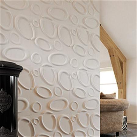 Set de 12 paneles con relieve para pared Splashes, 3 m² Decoració