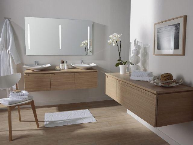 Parquet salle de bains stratifié en 24 photos inspirantes - Stratifie Mural Salle De Bain