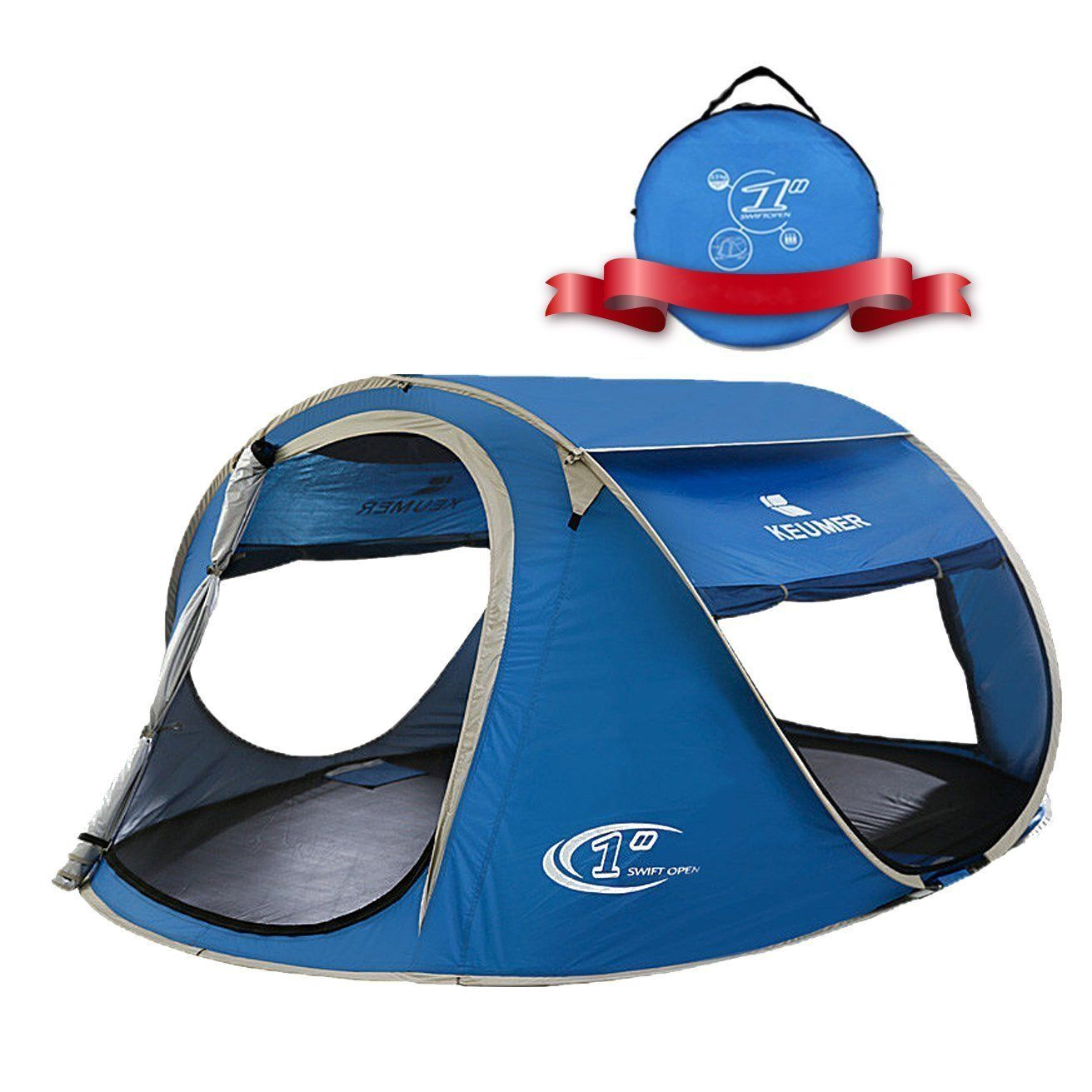 Zomake Pop Up Tent 4 Person Beach Tent Sun Shelter For