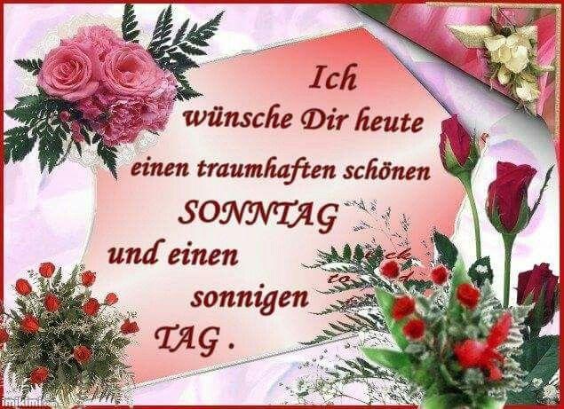 Guten Morgen Wünsche Euch Allen Einen Schönen Sonntag Bin Heute