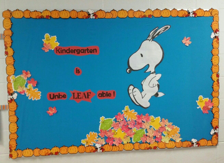 Fall Snoopy Bulletin Board