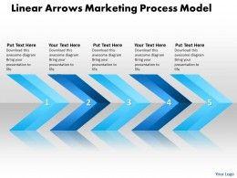 Business powerpoint templates linear arrows marketing process model business powerpoint templates linear arrows marketing process model sales ppt toneelgroepblik Gallery