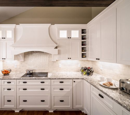 Kitchen Ideas White Cabinets With Dark Countertop: Image Result For New Quay With Ivory Cabinets Kitchen
