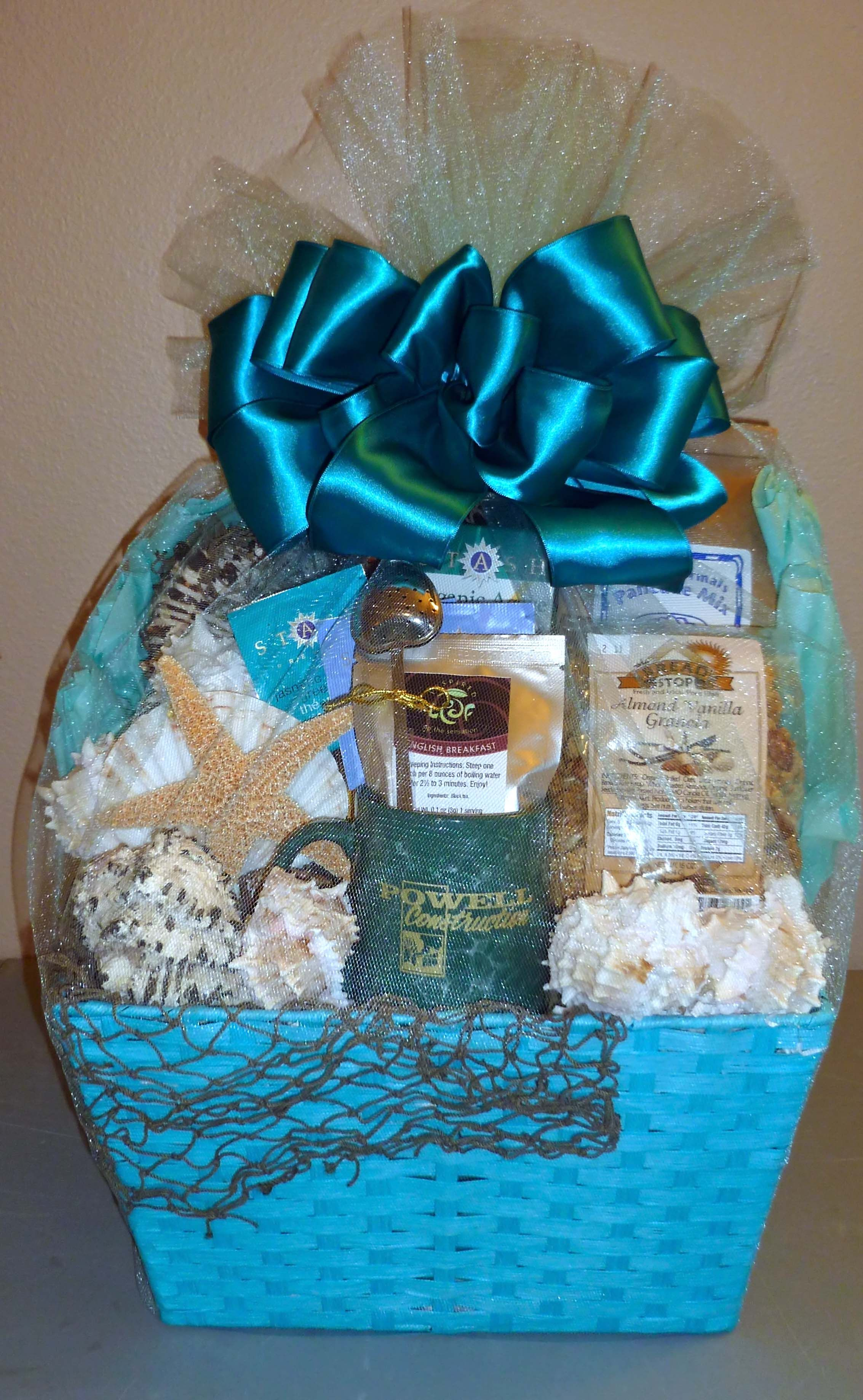 Ocean Theme Gift Basket Themed Gift Baskets Gifts