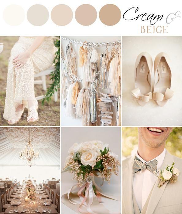 Color palette cream beige the bride 39 s cafe blog for Fall wedding dress colors