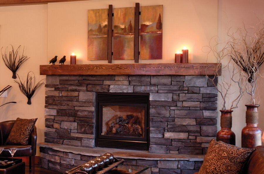 Stone And Wood Fireplace fireplace with stone and wood mantel  visit houzz com for Best 10 Stacked Fireplaces Ideas On Pinterest