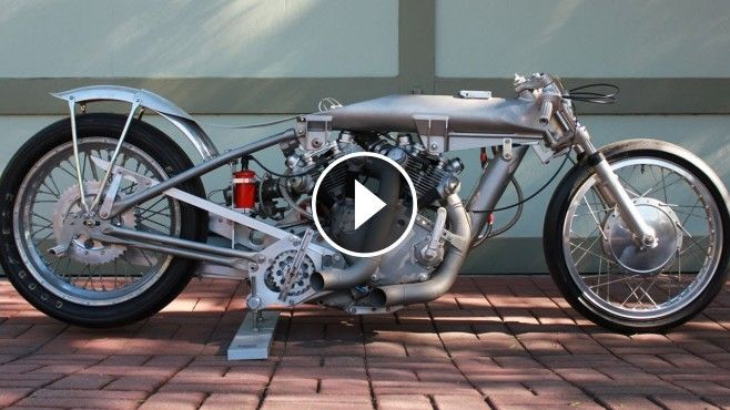 1949 Vincent Rapide Engine Powered Motorcycle Dragster - John Stein of Los Angeles, California shows us his original, 1949 Vincent Rapide engine powered motorcycle d