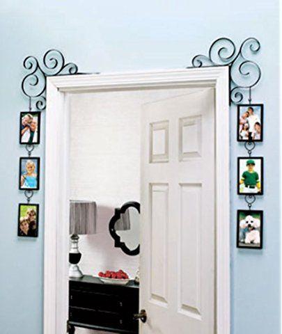 Set Of 2 Doorway Corner Photo Picture Frames Home Bedroom Black Picture Frame Wall Home Decor Gallery Frame Set