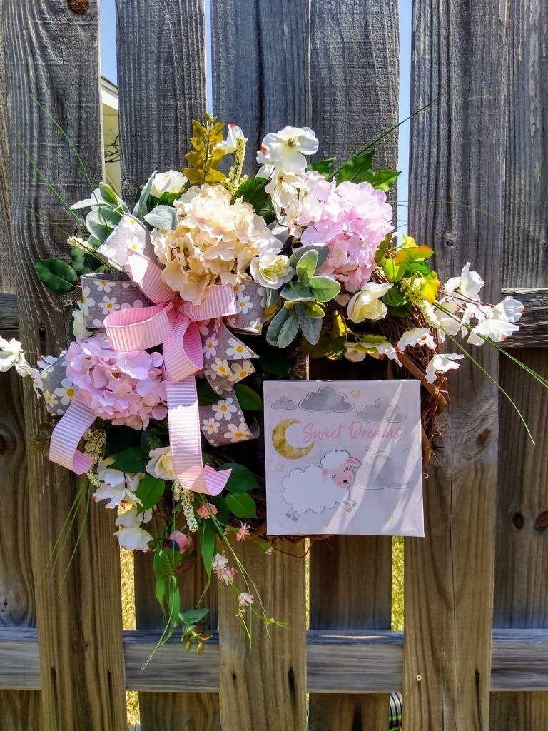 Baby Girl Wreath,Baby Shower Wreath,Baby Girl Wreath for ...