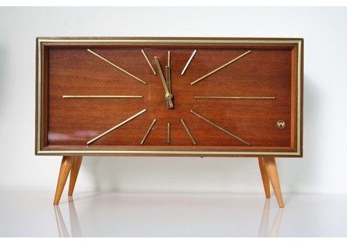 Large Vintage Mid Century Weimar Uhren Mantel Clock 1950 S Germany Photo 7
