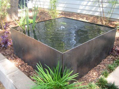 Trough pond a go go water features pinterest pond for Raised koi fish pond