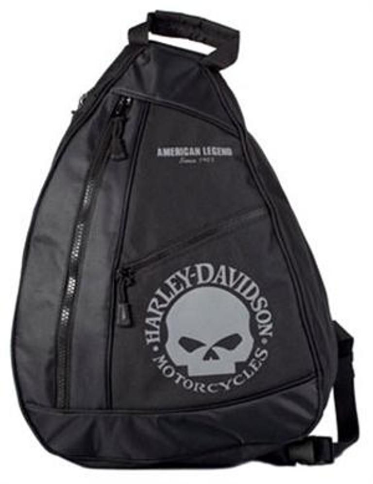 skull-sling-pack-gray-and-black-bp1957s-gryblk | Harley-Davidson ...