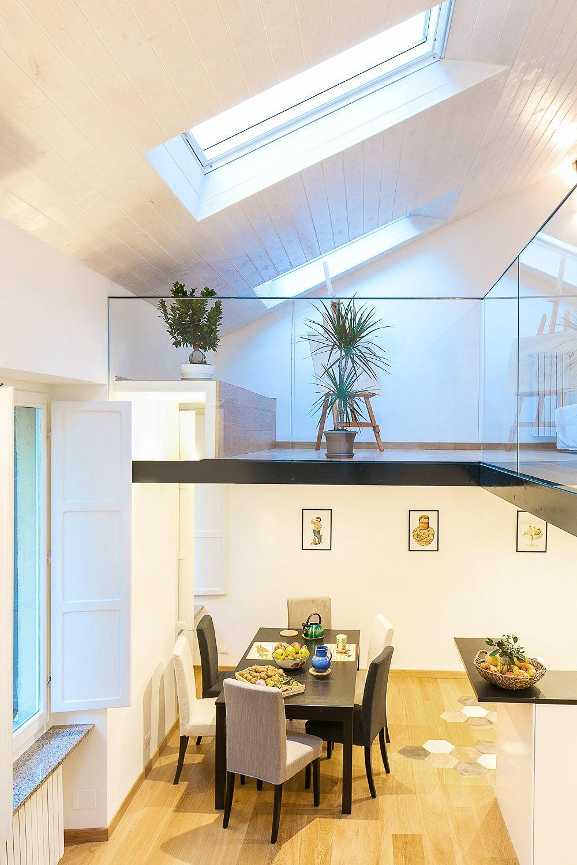 Modern duplex apartment torino italy 3 l