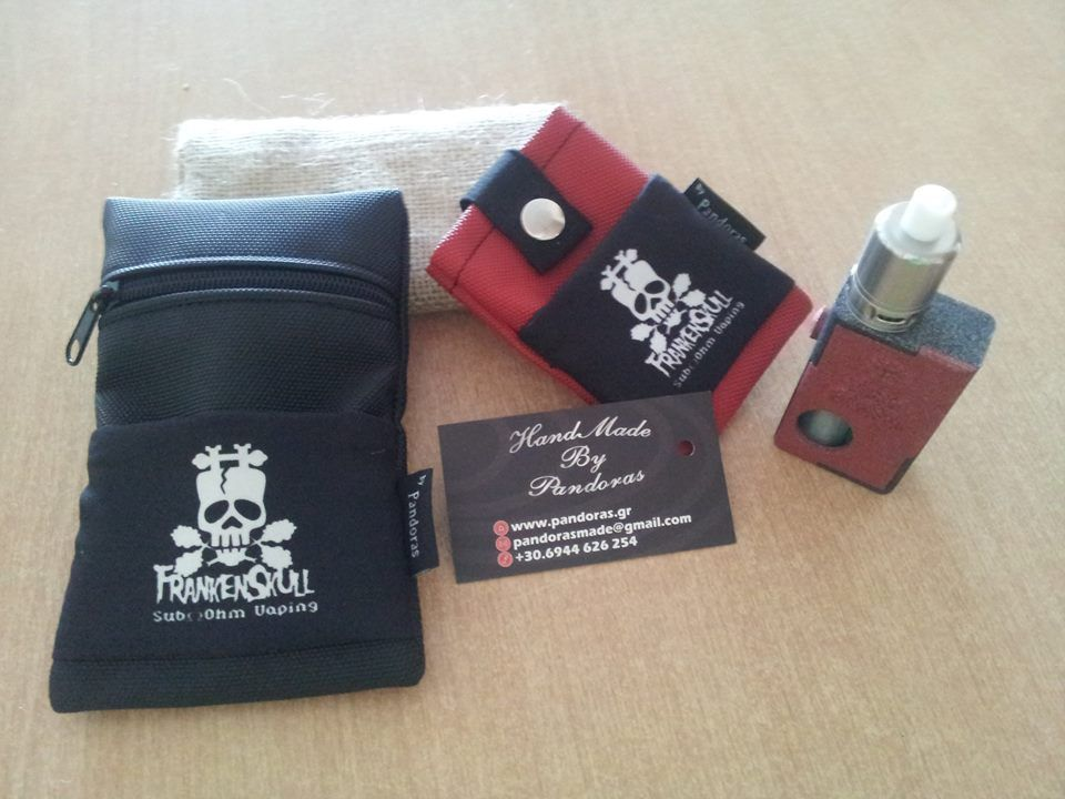 Silok pouch V1.5 and Pandoras Belt pouch with FrankenSkull logo