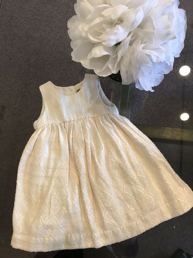 a0ab55307 Gap Baby Girl s Ivory Floral Pattern Dress size 12-18 months Orig ...