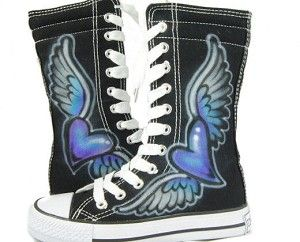 Would love these with heart and wings painted pink