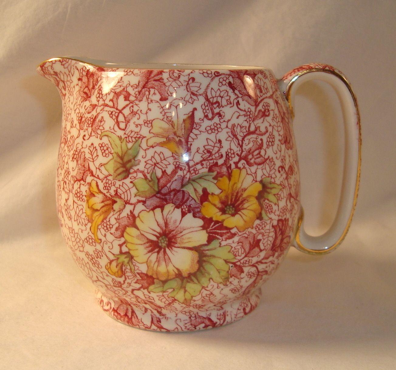 Royal winton grimwades dorset pink floral chintz 32 oz pitcher royal winton grimwades dorset pink floral chintz 32 oz pitcher small china cream reviewsmspy