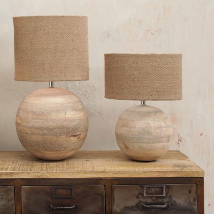 Pied De Lampe Boule En Manguier Naturel Ko Nkuku Lampe Bois Lampe A Poser Bois Lampe Pied Bois