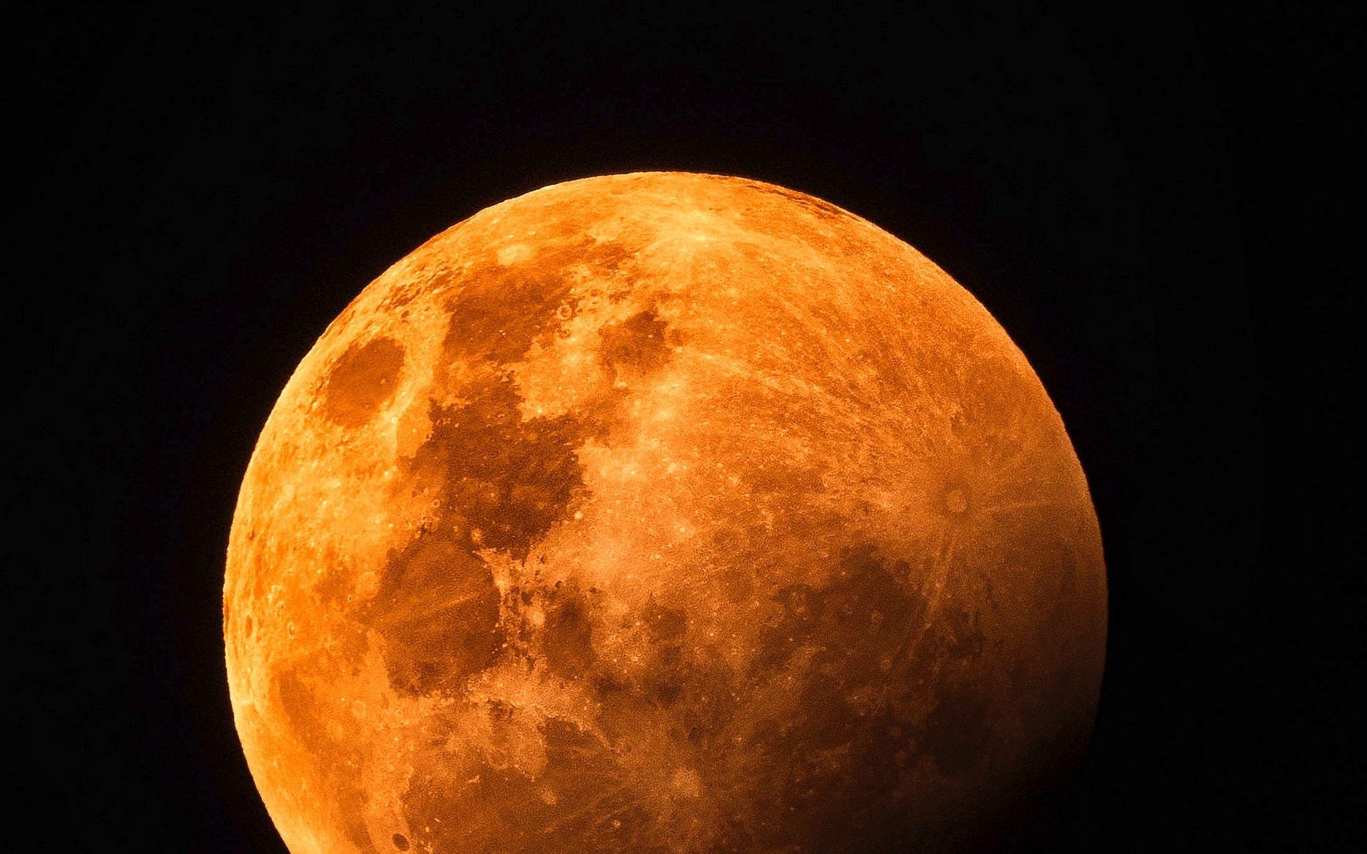 Orange Moon Wallpaper Hd Orange Moon Red Moon Wallpaper