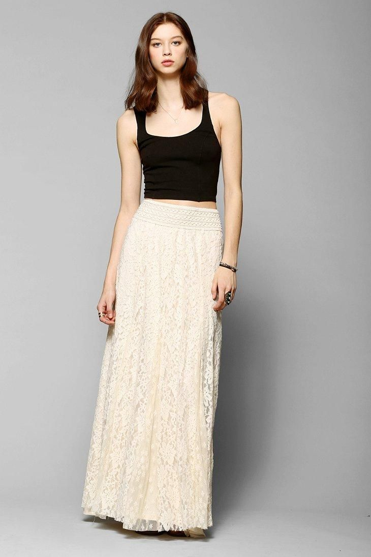 Kimchi Blue Margarita Lace Maxi Skirt #urbanoutfitters | UO ...