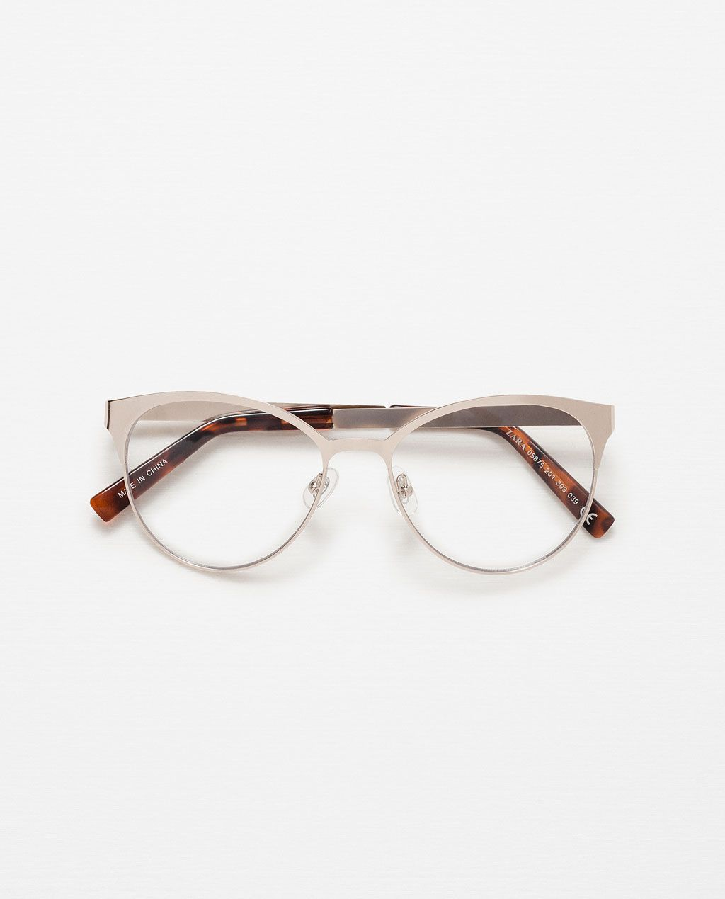 Image 2 of ROUND METALLIC GLASSES from Zara | Look | Pinterest | Brille