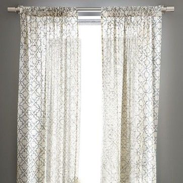 iznik tile printed window panel modern curtains west elm rh pinterest com